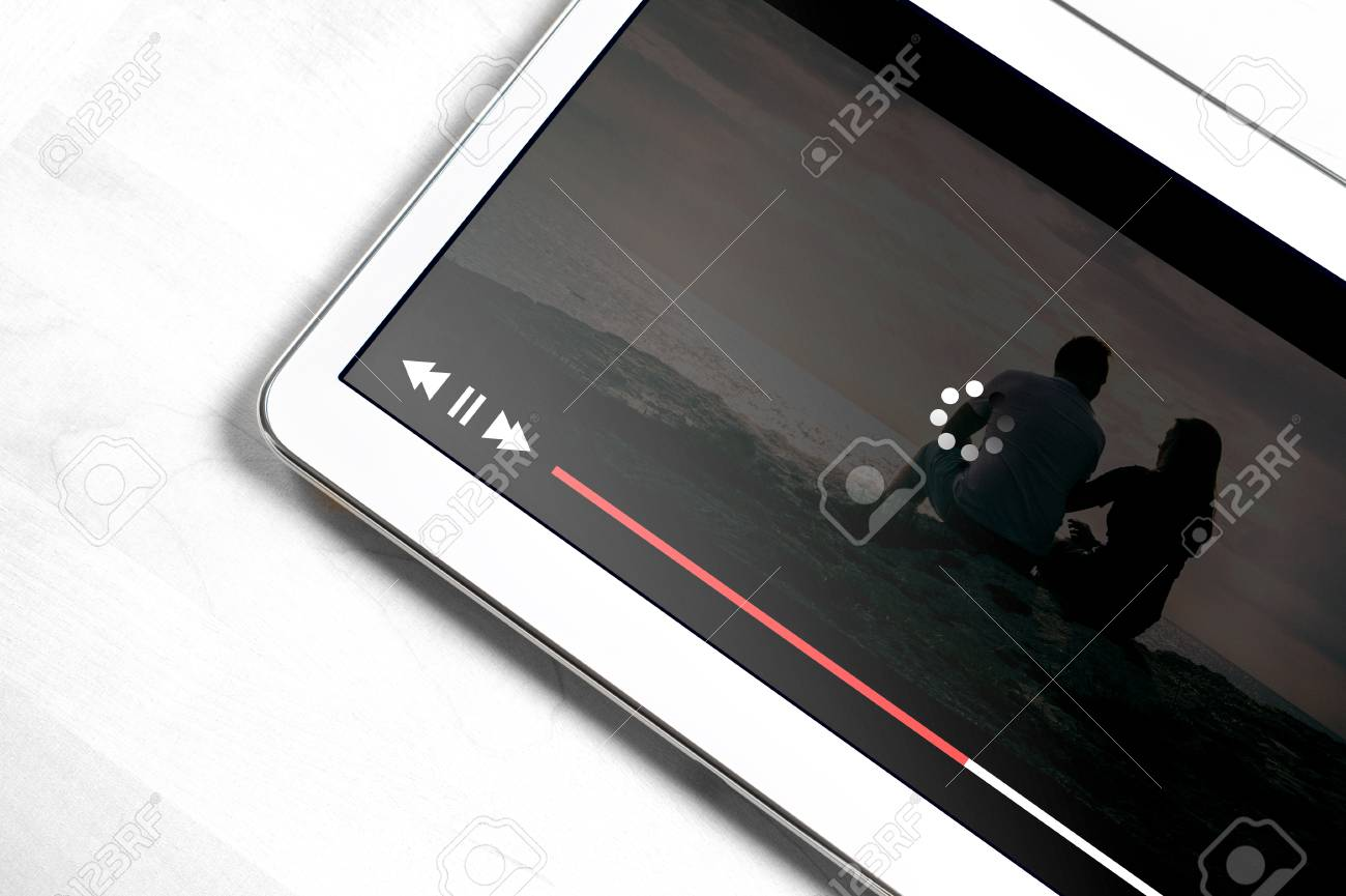 Slow internet connection. Bad online movie streaming service. Loading icon rolling on video. Film player stopped and buffering. Problem with wifi. - 95741605