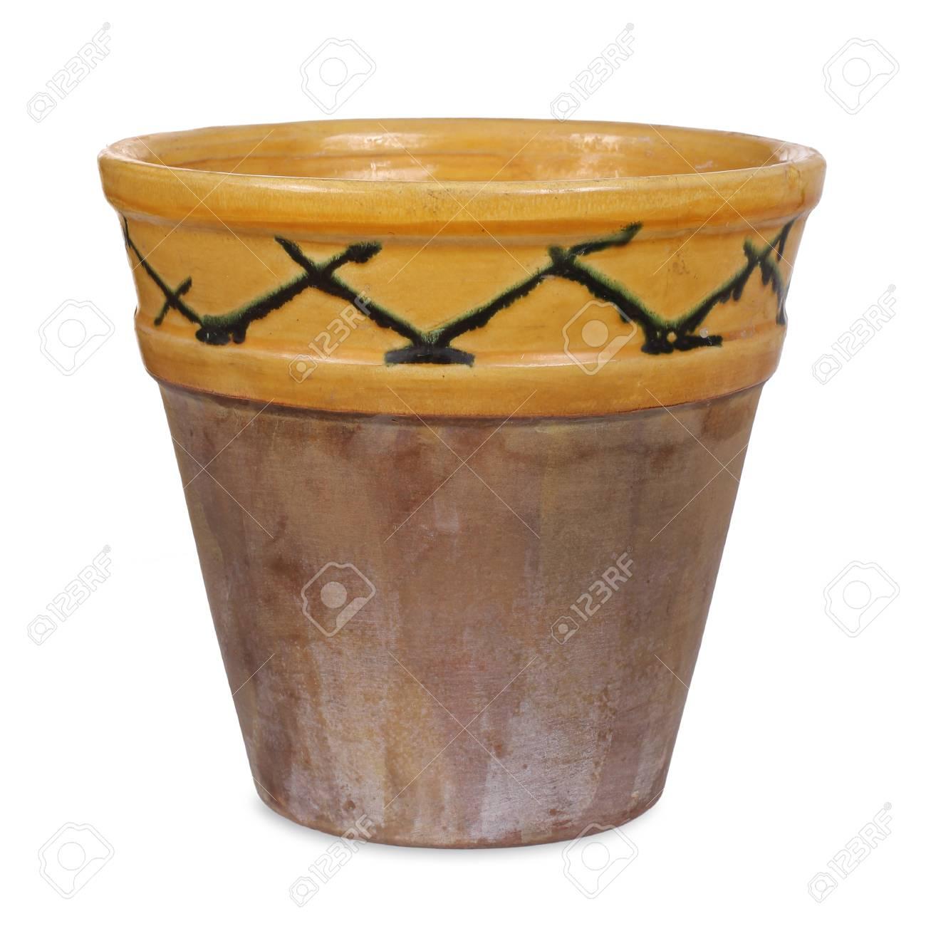 Old handmade flower pot - 35801979