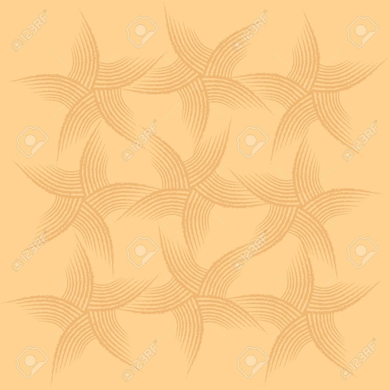 trace of starfish on the sand background Stock Vector - 15827286