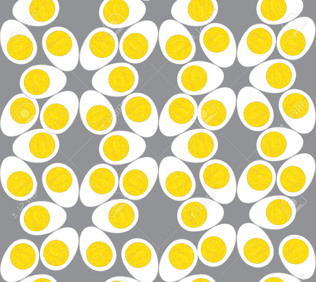 Egg Seamless Pattern. Grey Background Royalty Free Cliparts ...