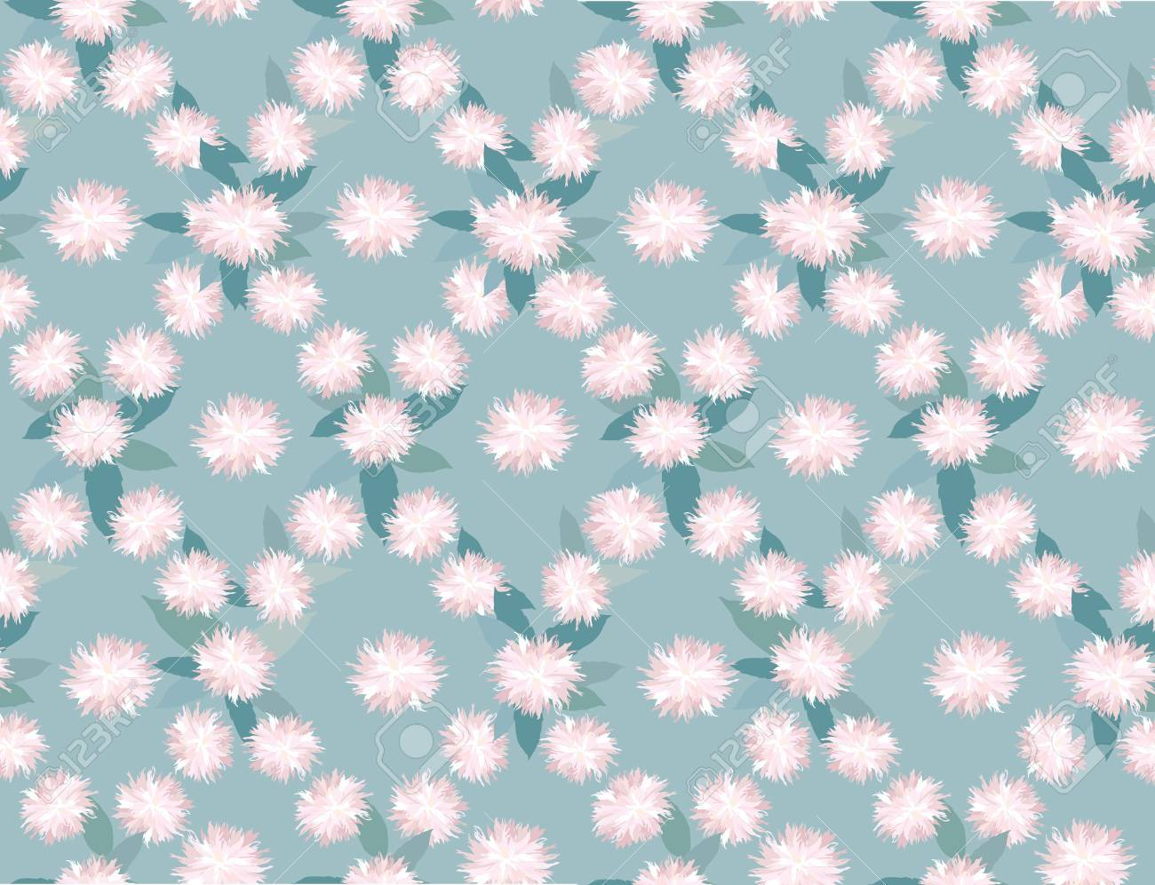 seamless floral pattern with white and lilac flowers Stock Vector - 16140321