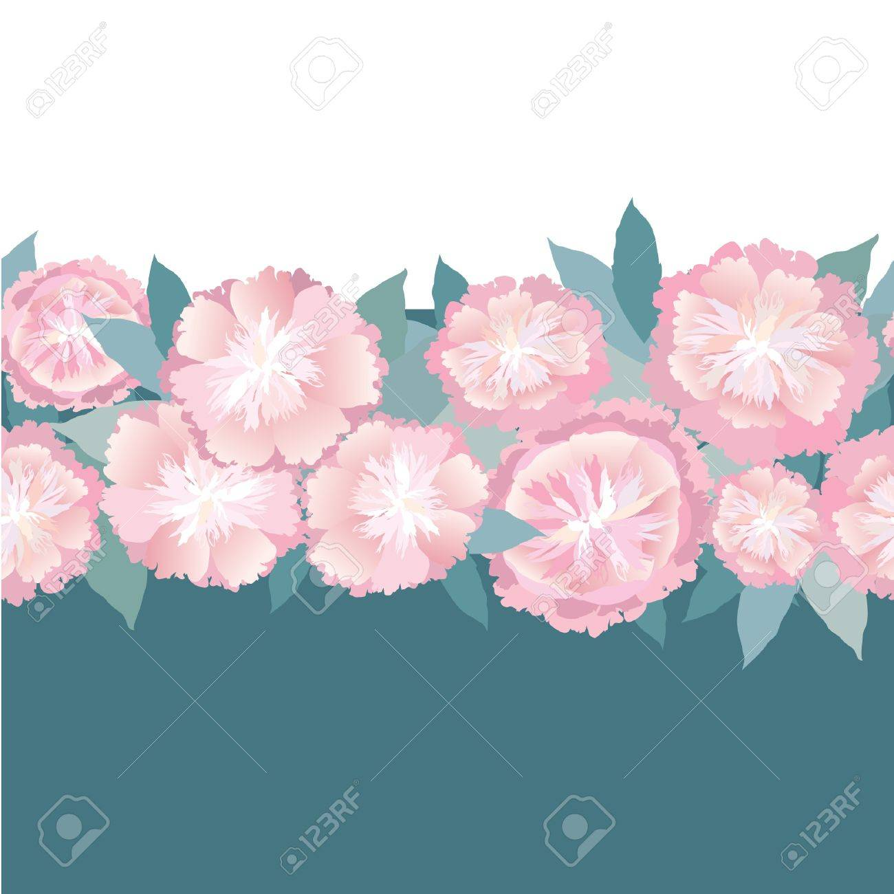 Floral seamless border pink flower garland background royalty free floral seamless border pink flower garland background stock vector 16140040 mightylinksfo