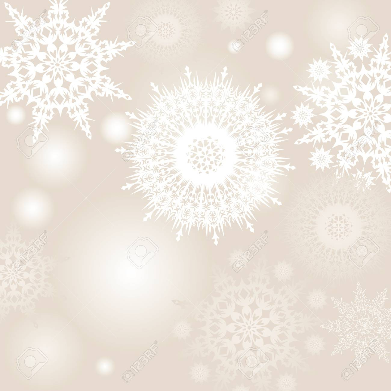 snowflakes vector background Stock Vector - 16229404