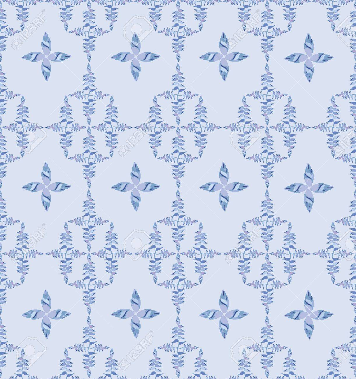 Floral pattern seamless  Flower vector motif on light blue background Stock Vector - 16424044