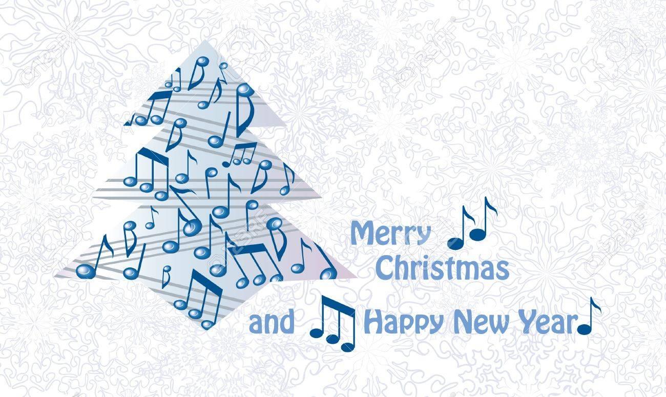 Music christmas greeting card Stock Vector - 17280003