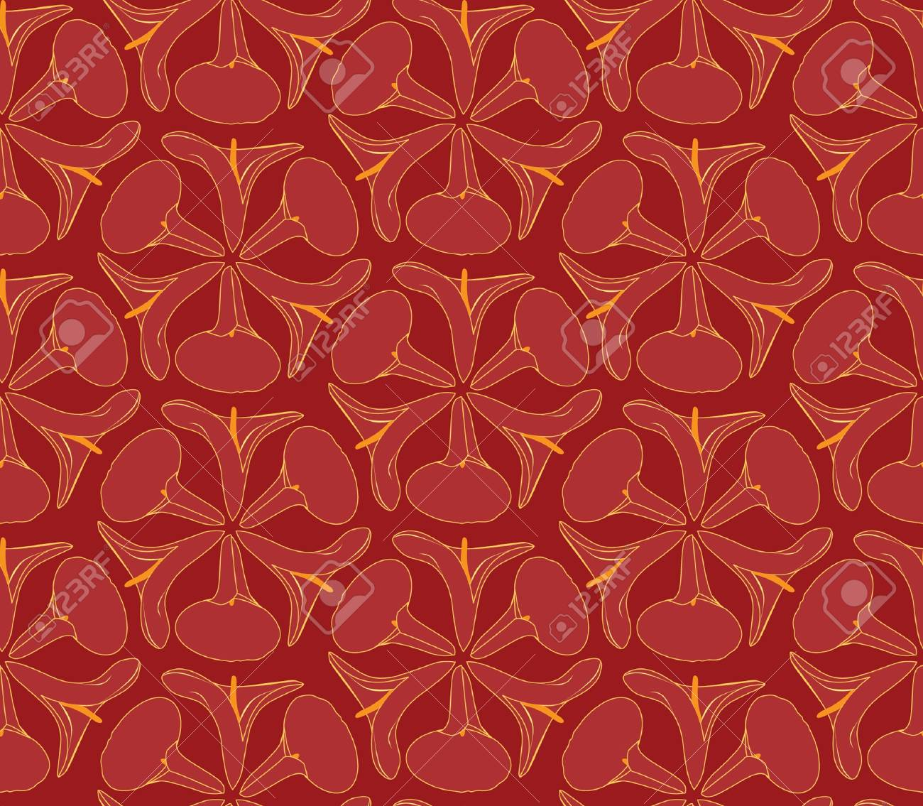 Abstract decorative floral retro seamless pattern  flower cal background Stock Vector - 17280119