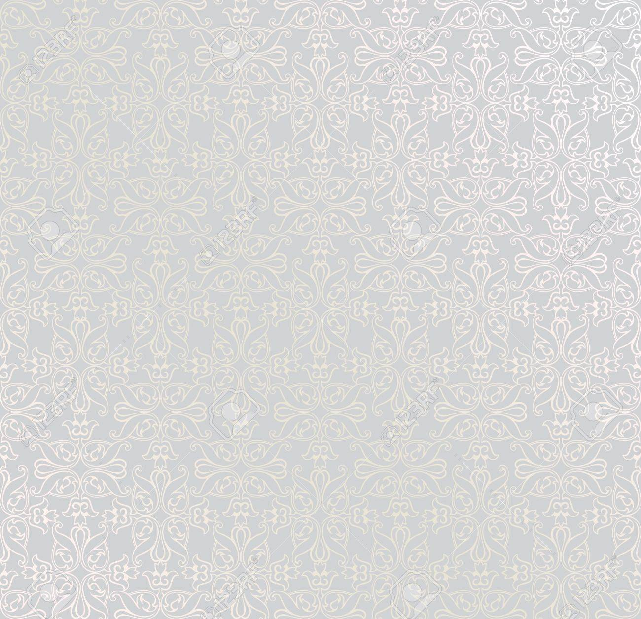 Silver seamless pattern for page decoration  Vintage Vector Design Ornament Stock Vector - 17576371