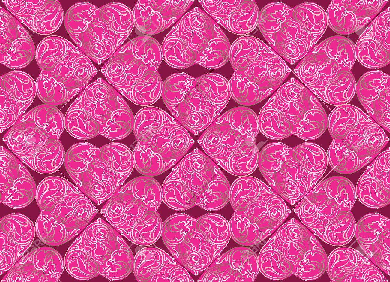 Love hearts Valentin s Day Seamless Pattern  Bright  seamless background Stock Vector - 18003692
