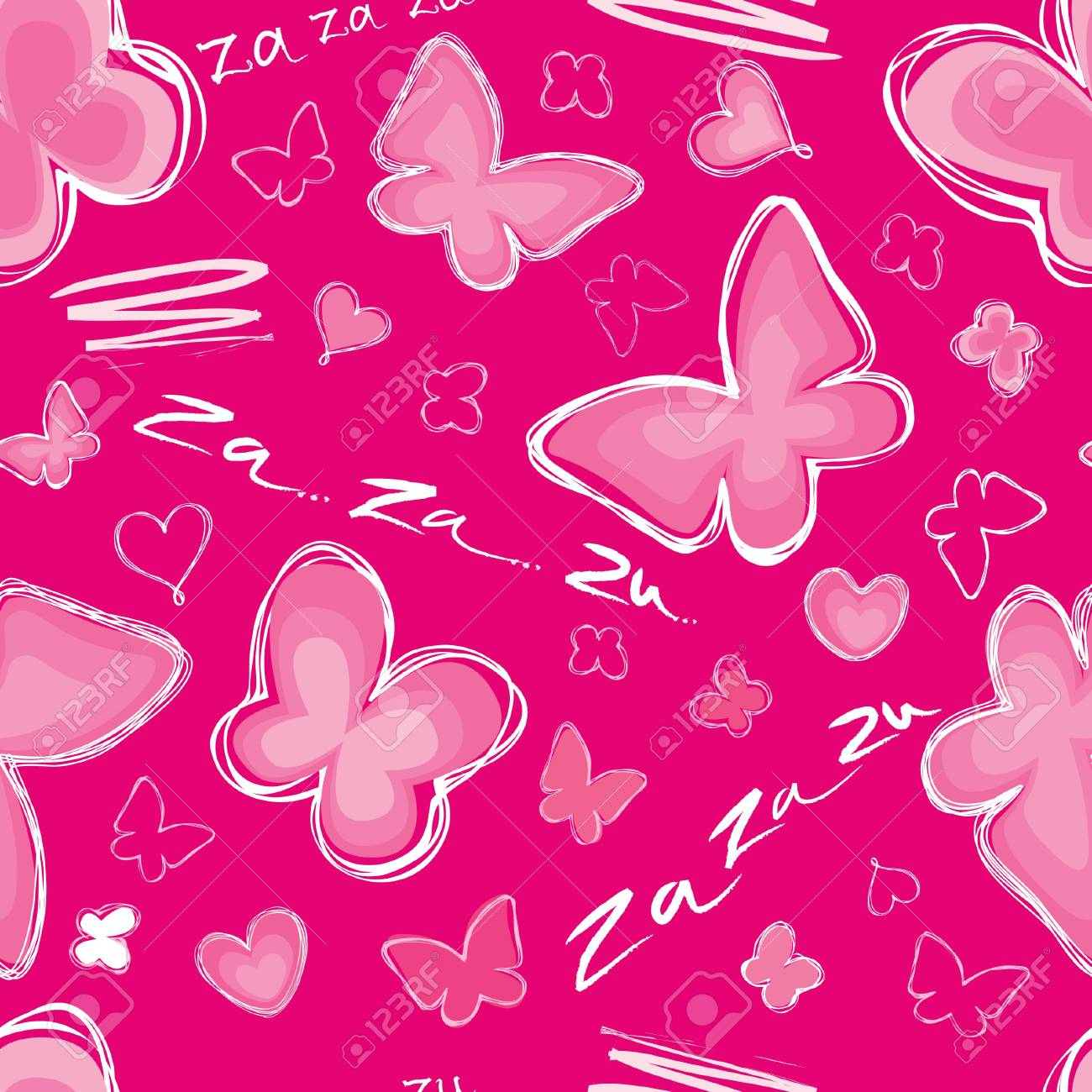 Love hearts Valentin s Day Seamless Pattern  Bright Vector seamless background Stock Vector - 18030522