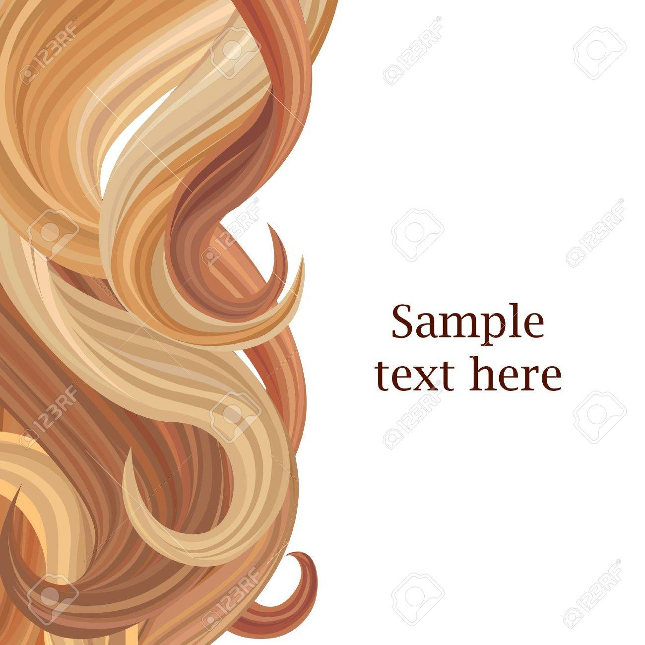 Hair Background Hair Style Poster Template Vector Illustration ...