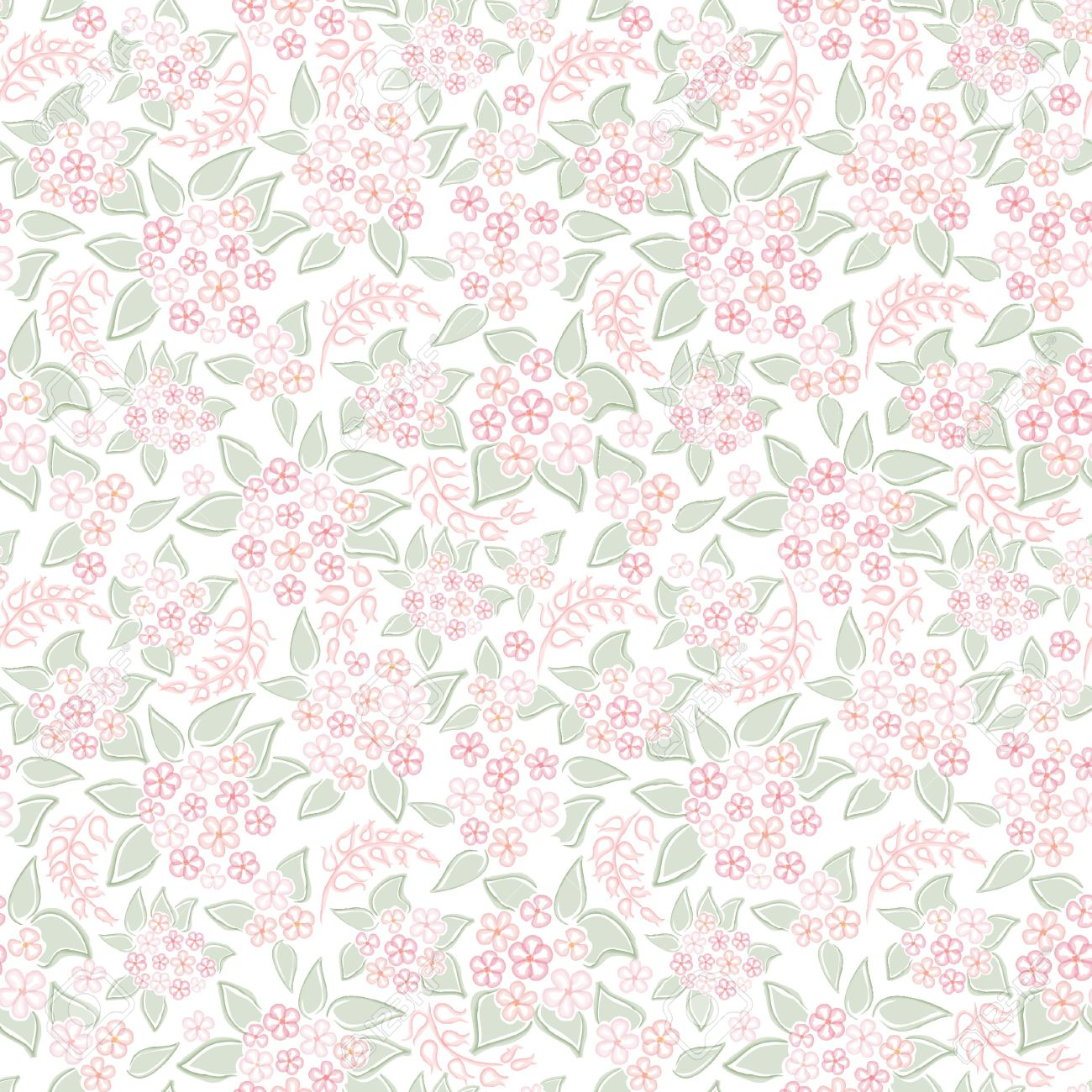 Flower Background Seamless Pattern With Flowers Vector Floral