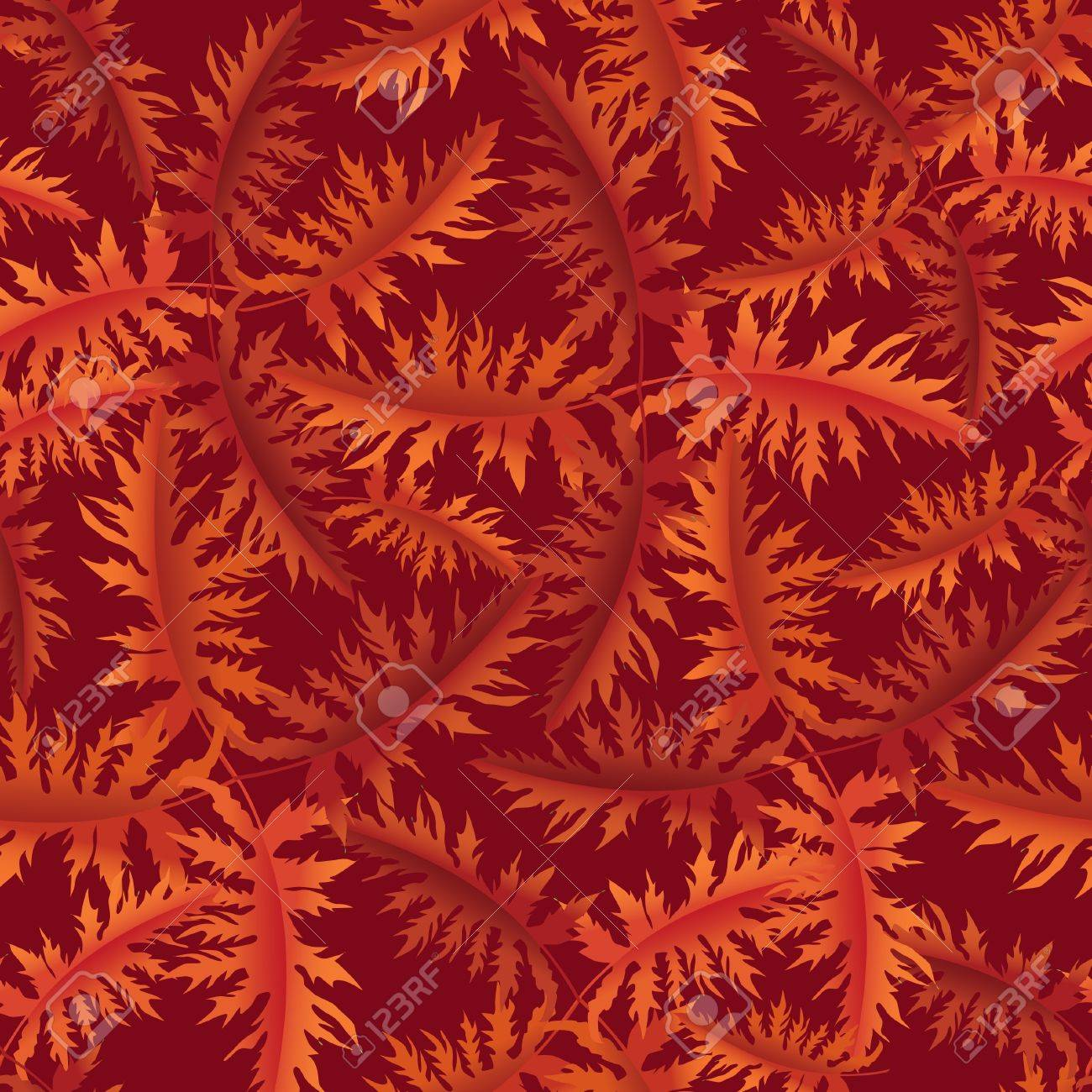 Autumn leaves seamless background  Floral vector pattern Stock Vector - 20007421
