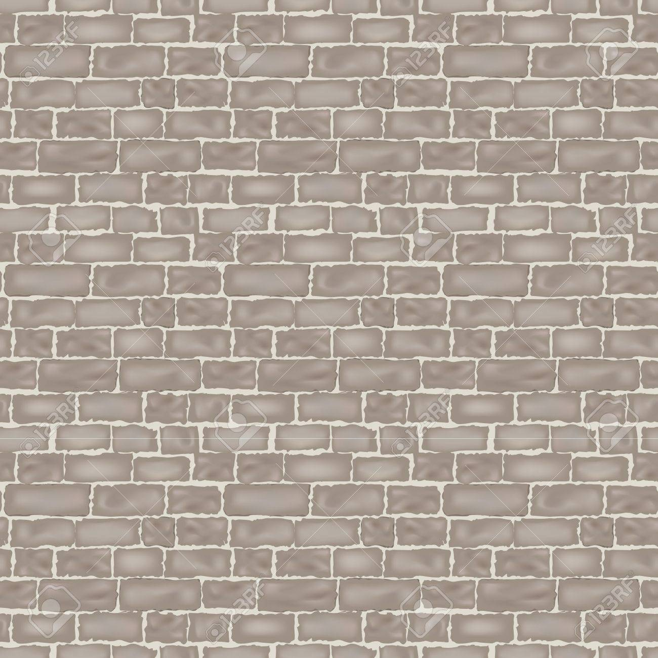 Brick Wall Texture Seamless Vector Background Royalty Free