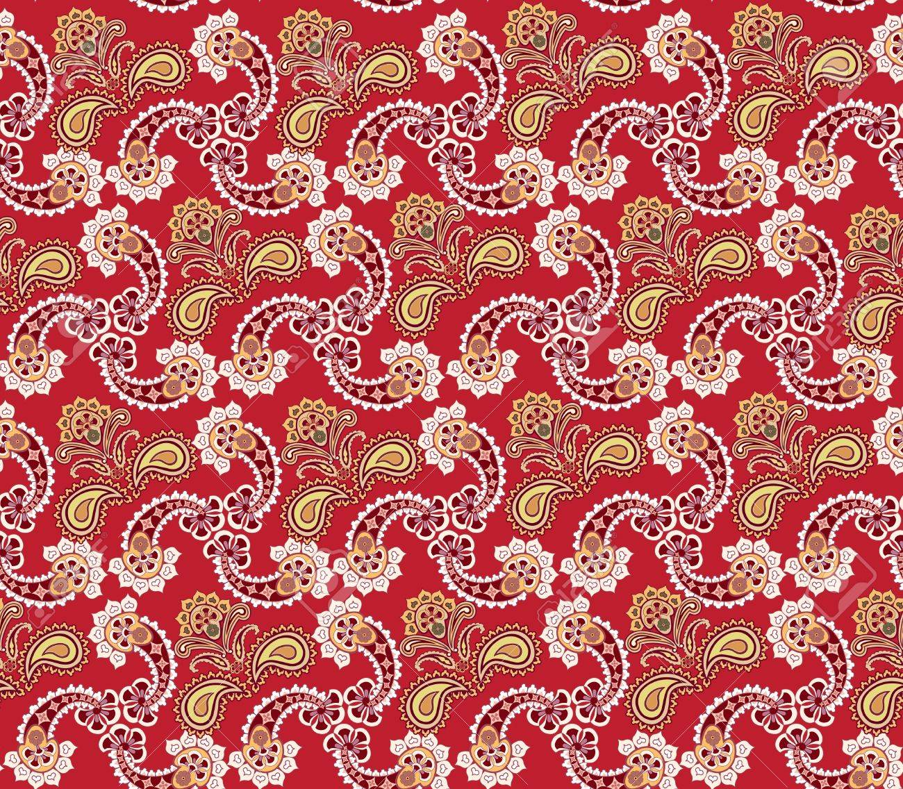 Abstract floral seamless ornamental pattern  Oriental flower background Stock Vector - 20912653