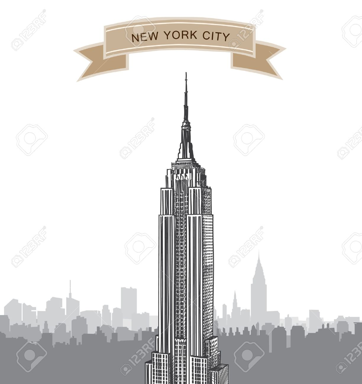 Empire State Building Cliparts Stock Vector And Royalty Free - Nyc map empire state building