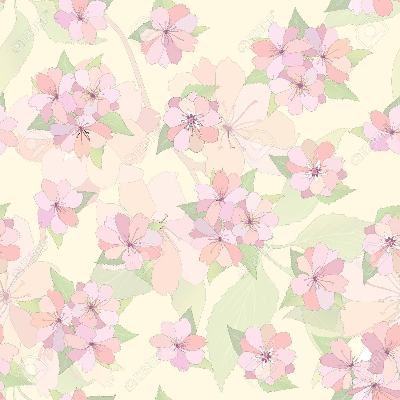Motivo Floreale Fiore Senza Sfondo Primavera Natura Trama Clipart ...