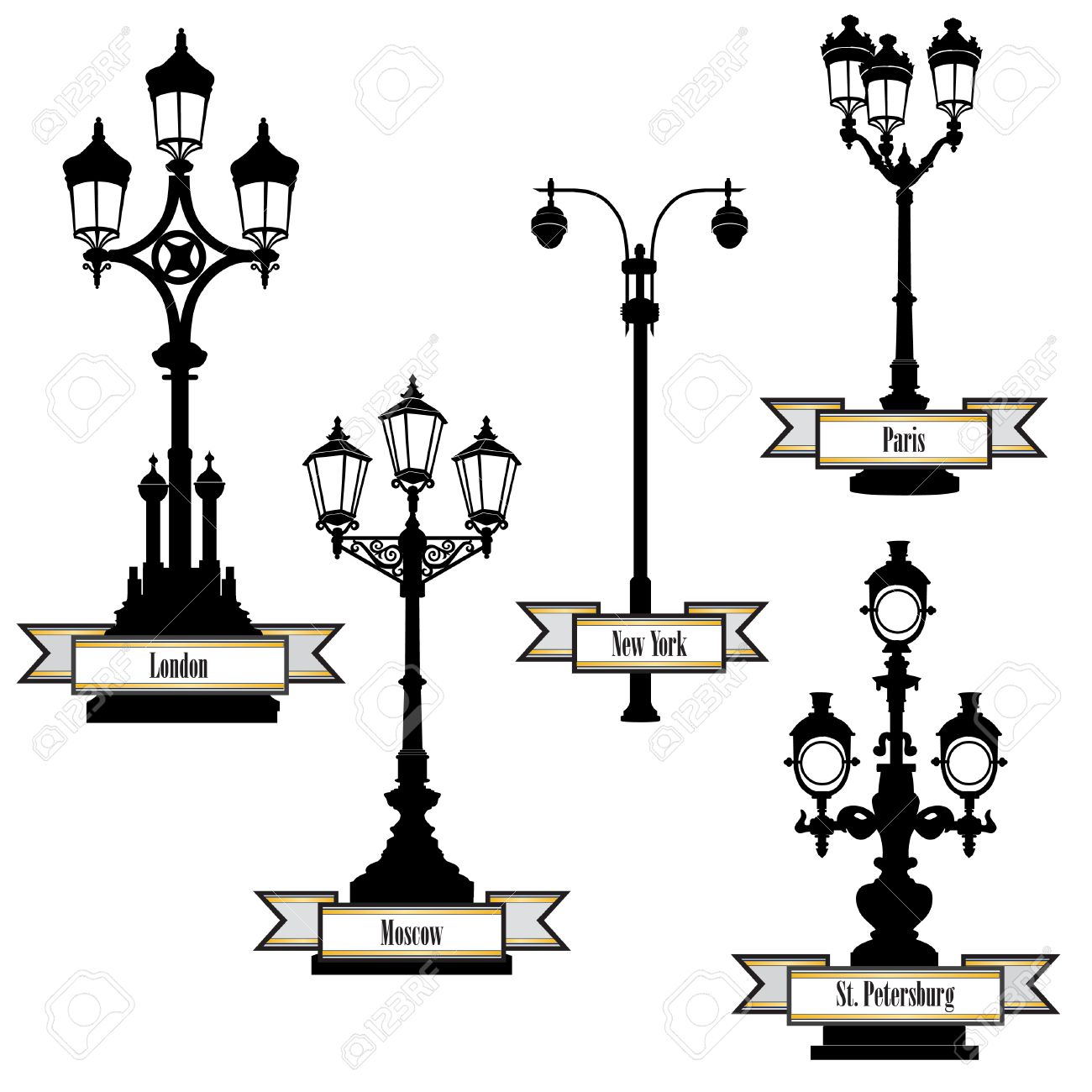 Rue Etiquette De La Lampe Definie Les Lampadaires De Londres Paris