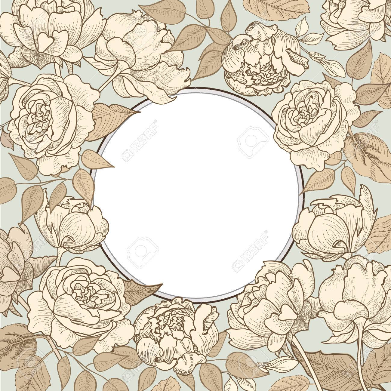 Floral vintage background - Floral Vintage Background In Vintage Victorian Style Stock Vector 35274653