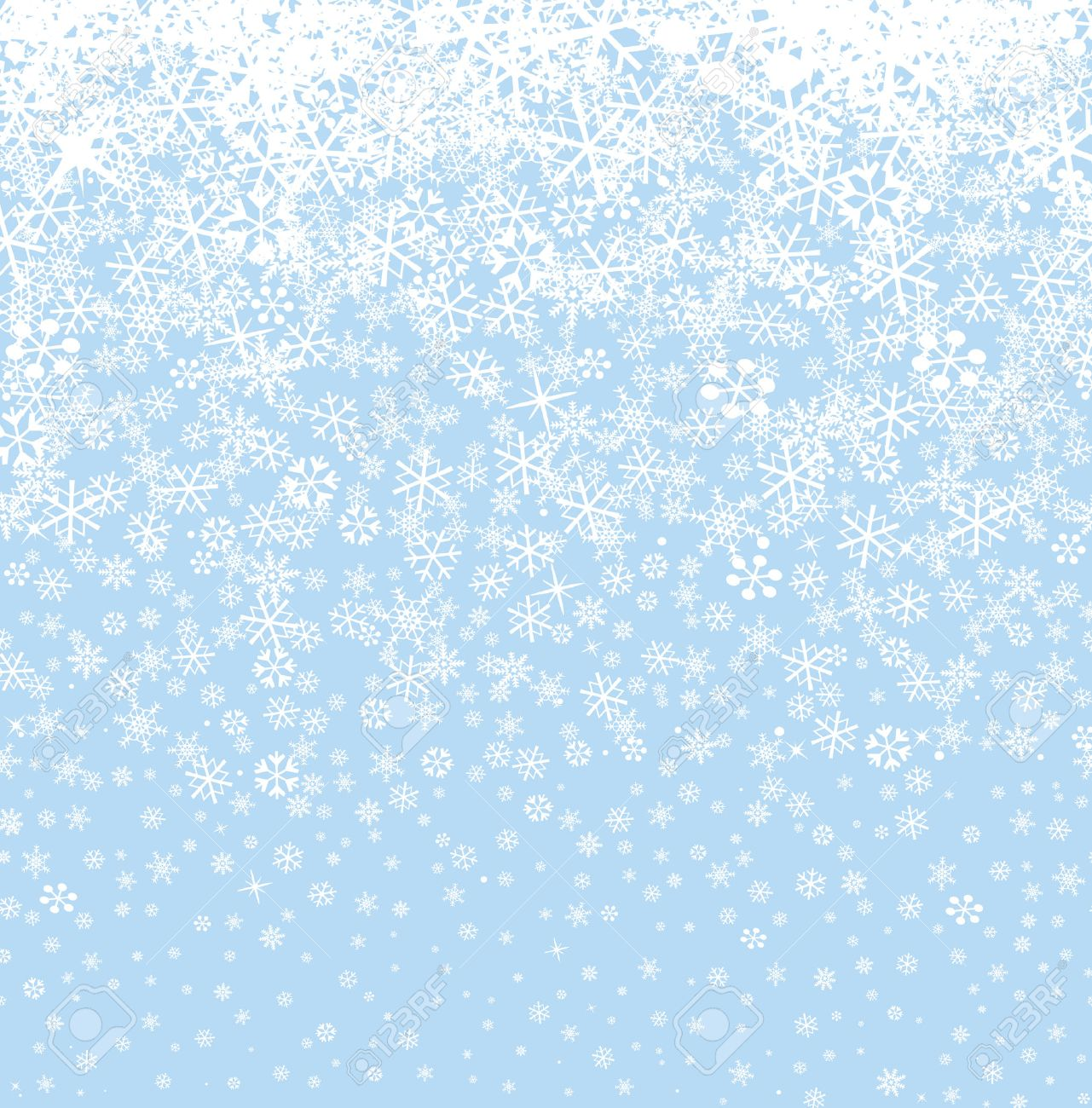 Winter Scene With Snowy Border Royalty Free Cliparts, Vectors, And ...