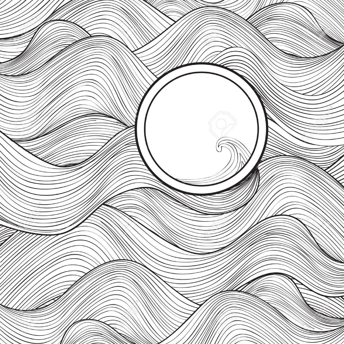 vague texture avec cadre pour le texte. noir et blanc élégant