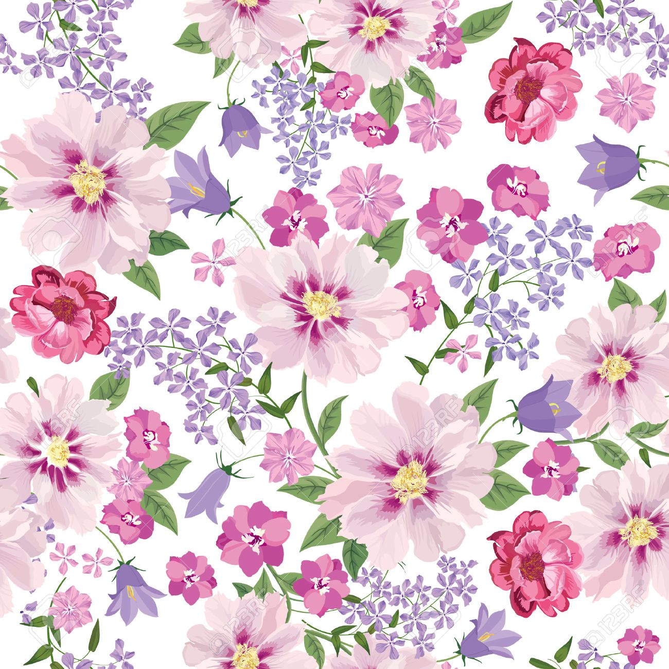 floral seamless pattern flower background floral tile spring