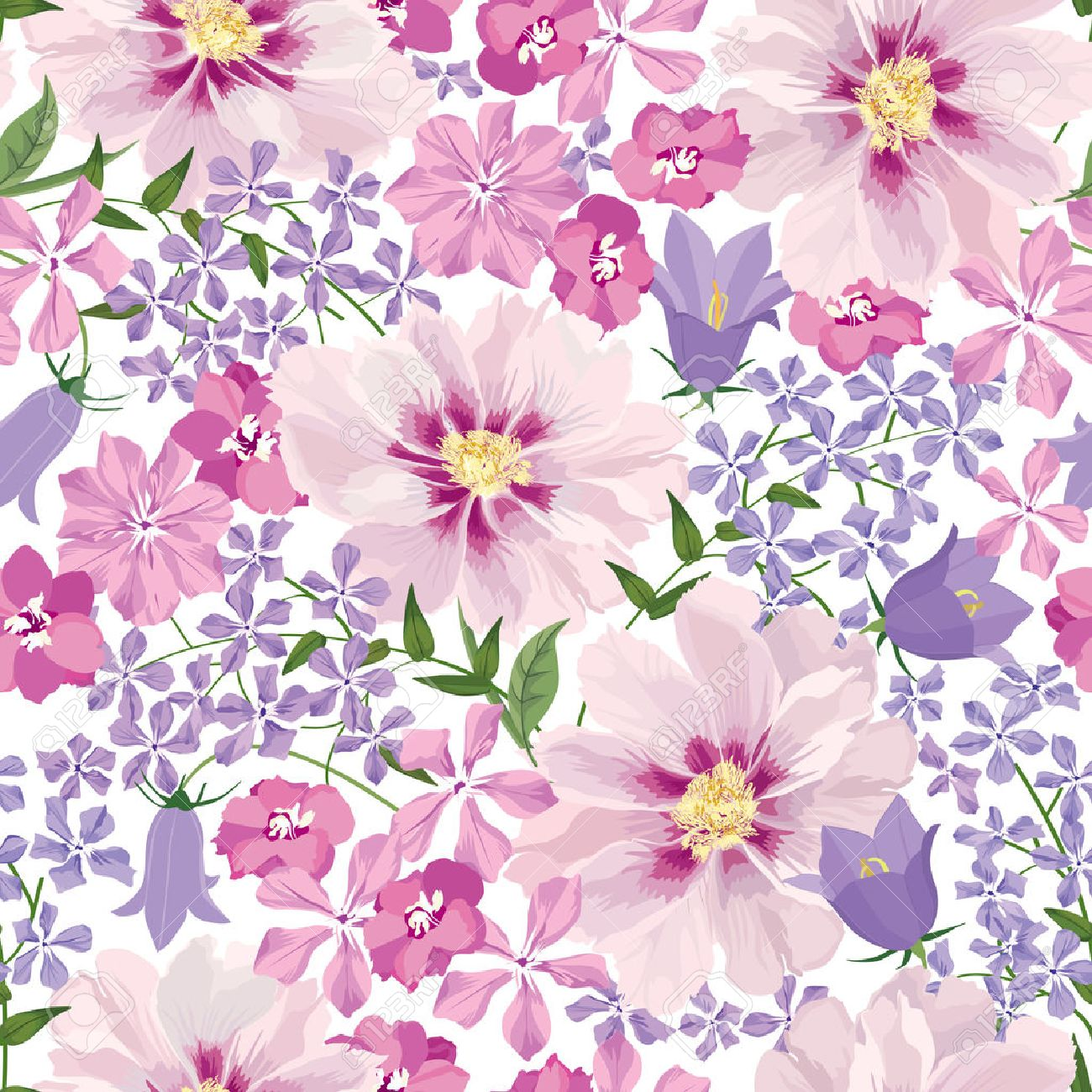 Floral seamless pattern. Flower background. Floral seamless texture with flowers. Stock Vector - 46073545