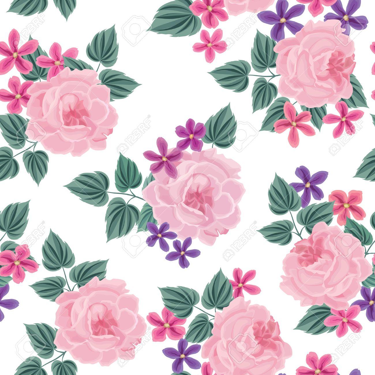 floral seamless pattern flower background floral tile spring