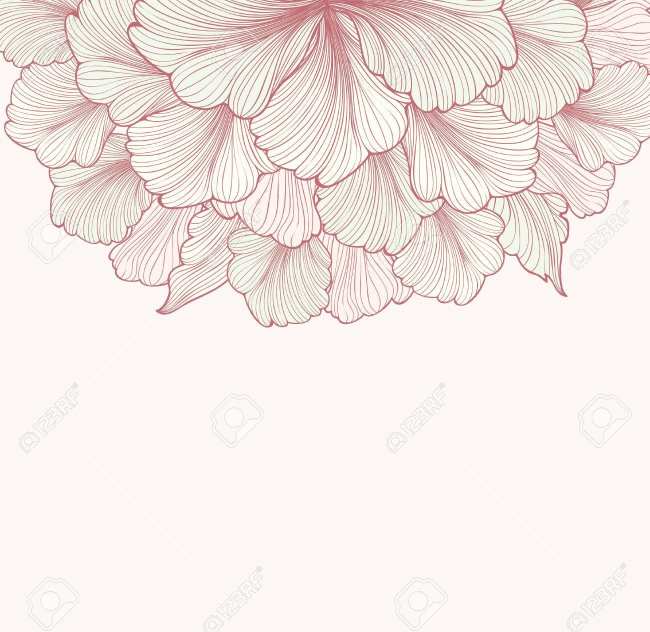Floral background with flower. Element for design. Vector illustration. Stock Vector - 50791948
