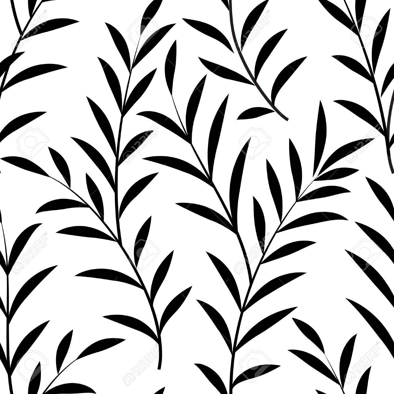abstract floral pattern floral leaves silhouette black and white rh 123rf com floral pattern vector illustration floral pattern vector free download