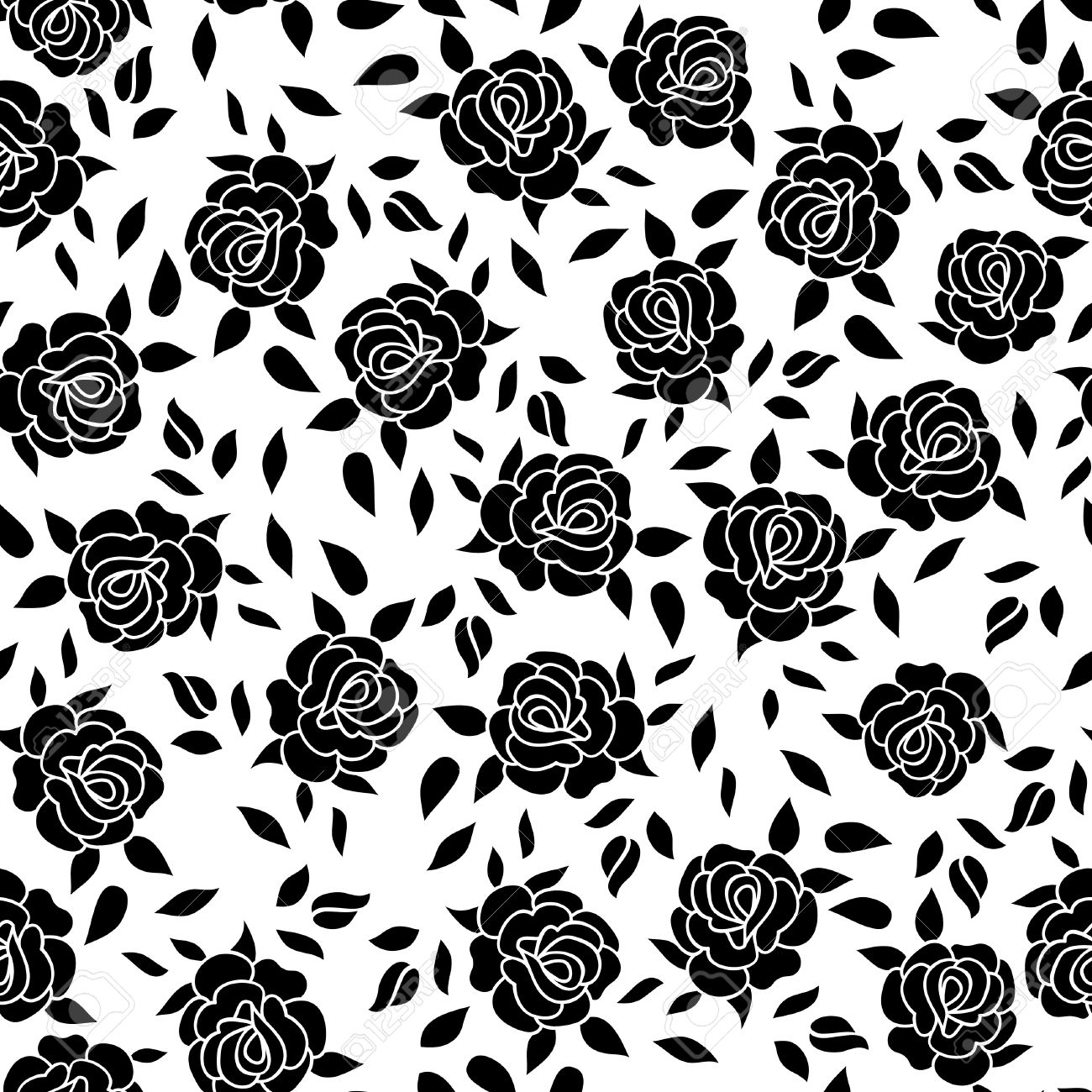 Floral Pattern Flower Rose Ornamental Background Flourish Texture
