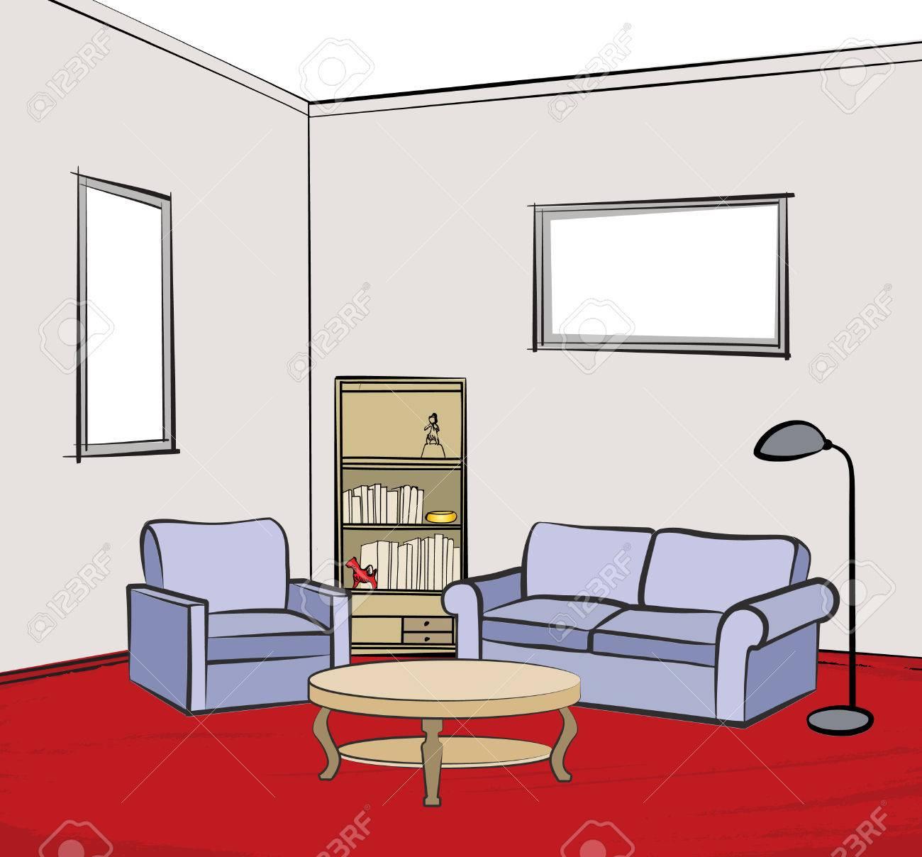 Asombroso Los Muebles Sillón De La Sala Ilustración - Muebles Para ...