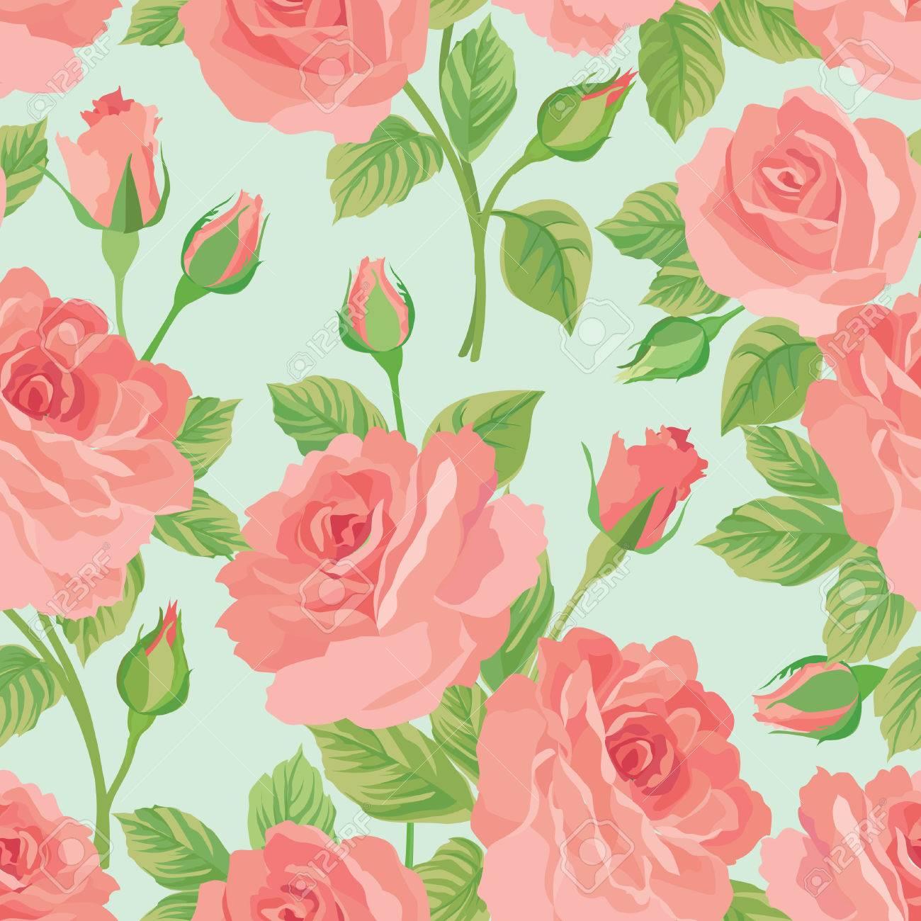 Ramo De Flores Sin Fisuras Patron Fondo Ramillete De Flores