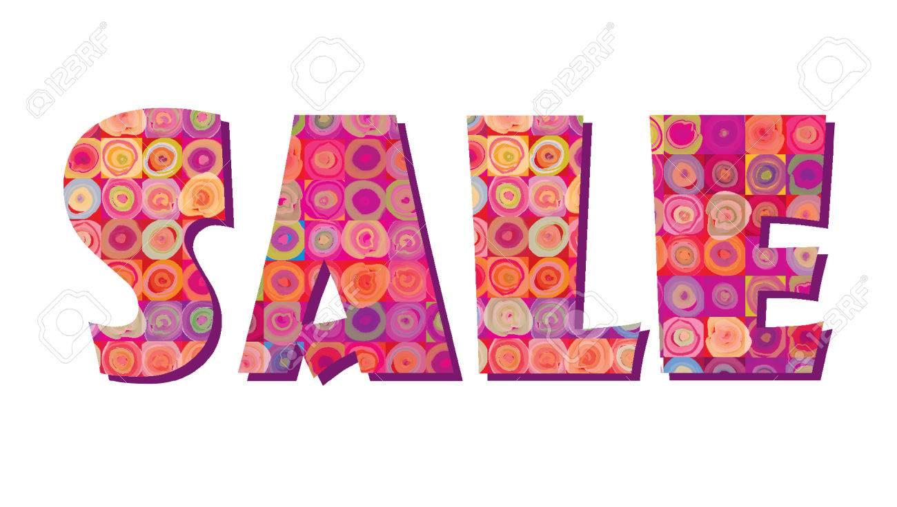 Sale banner. Big summer sale skicker over pink background - 60421464
