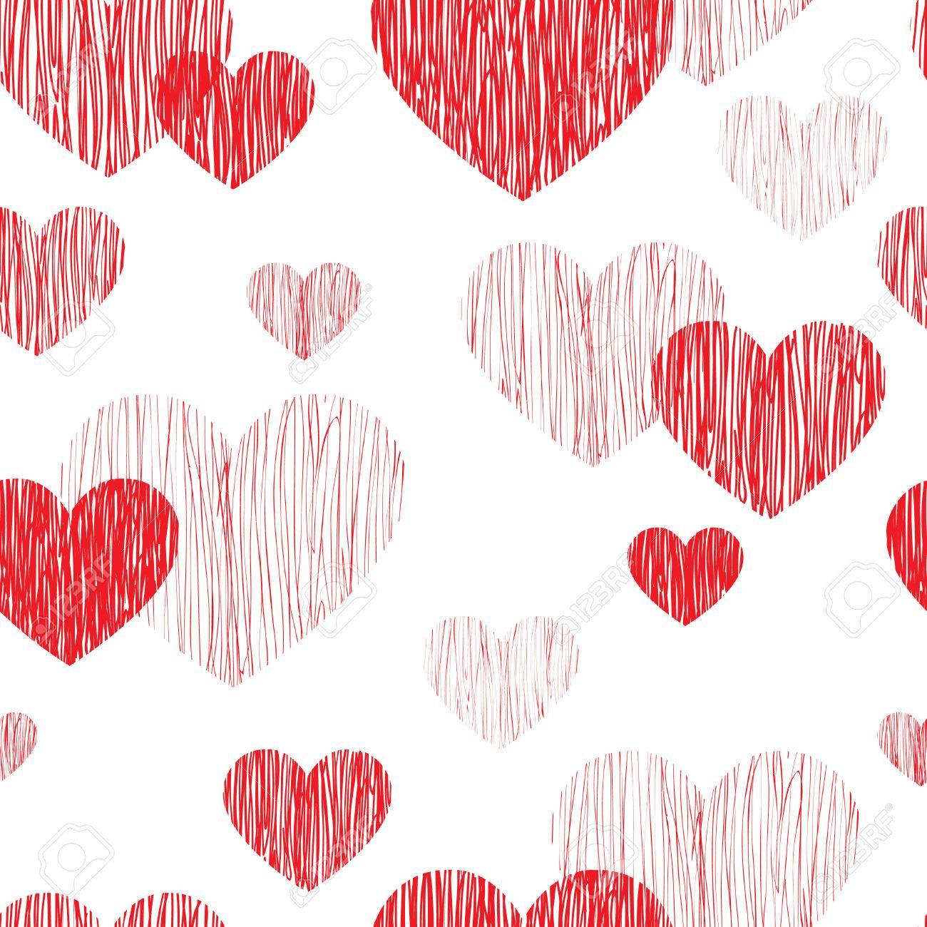 Love Heart Seamless Pattern Happy Valentines Day Wallpaper