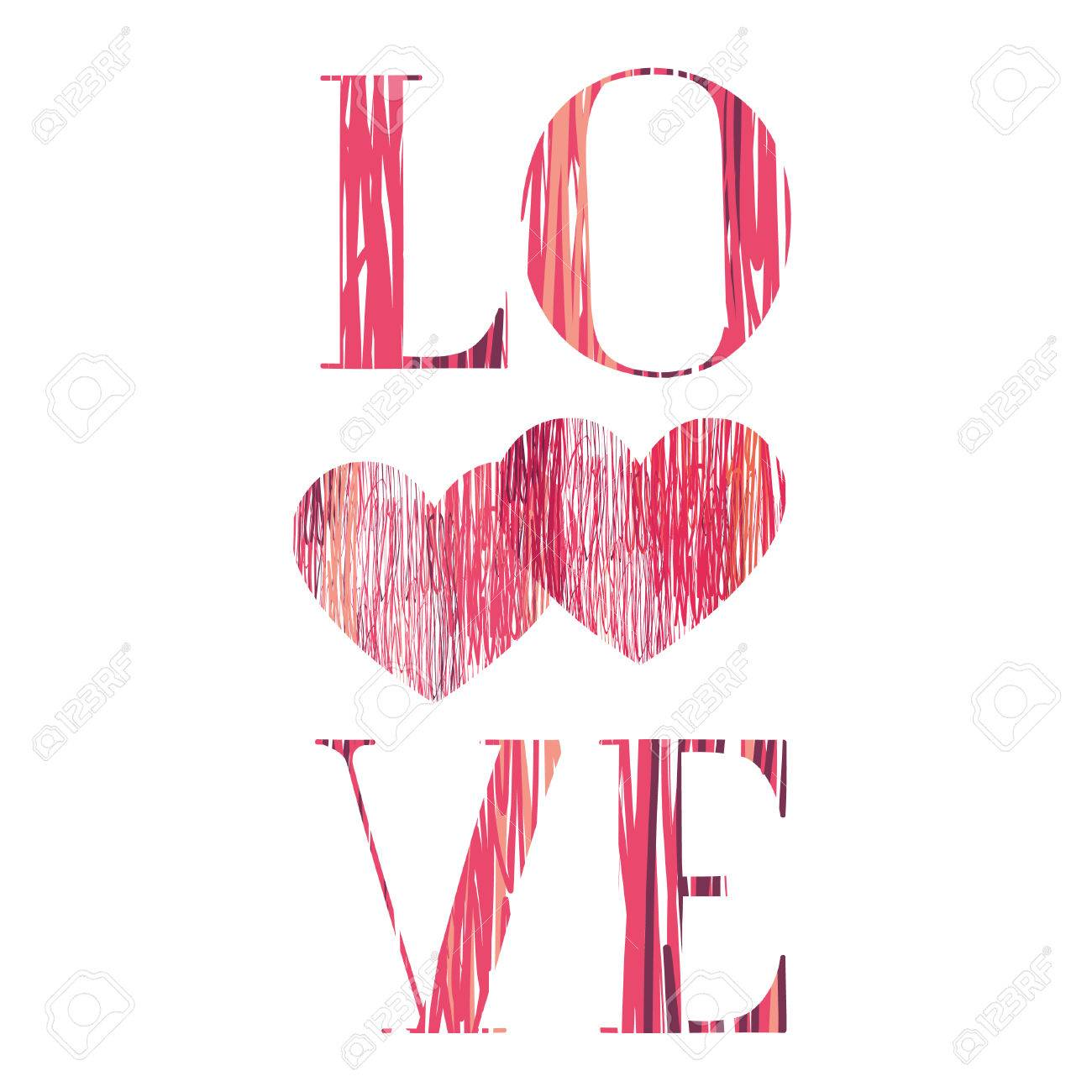 Love Sign Background Love Happy Valentines Day Card Pencil