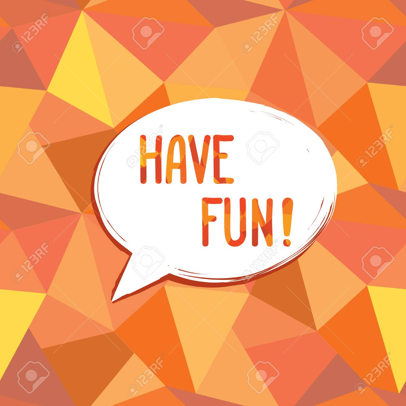 Have Fun Speech Bubble Happy Holiday Sign Party Invitation