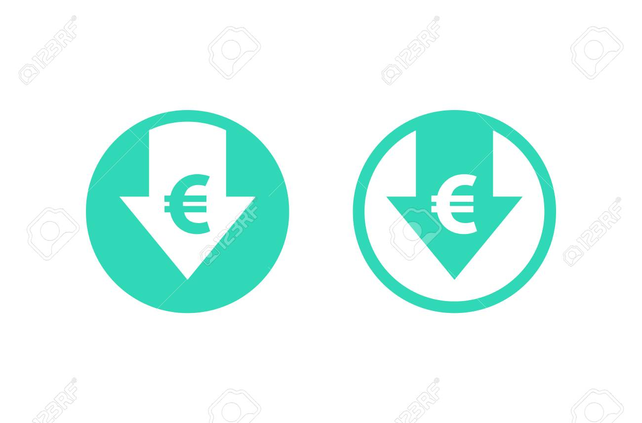 Cliparts And Stock Background Icon Reduction Image Free Isolated Vectors White 108311000 On Illustration Royalty Euro Cost