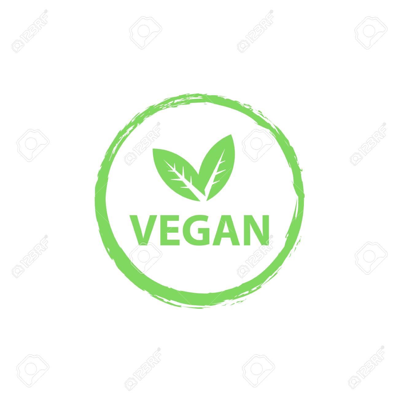 Vegan icon, organic bio icon or sign  Raw, healthy food badges,