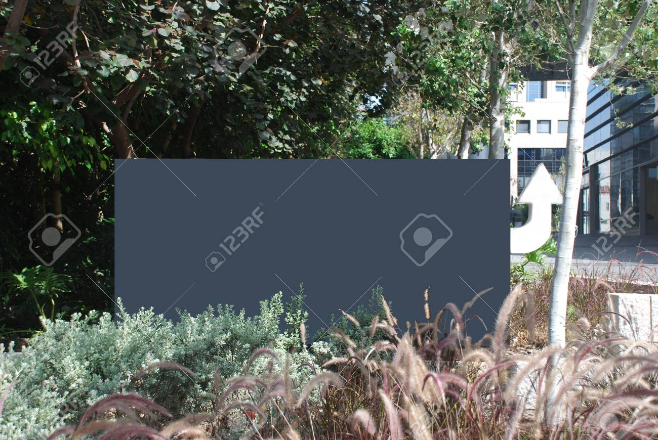 blank grey sign with a copy space area Stock Photo - 7052965