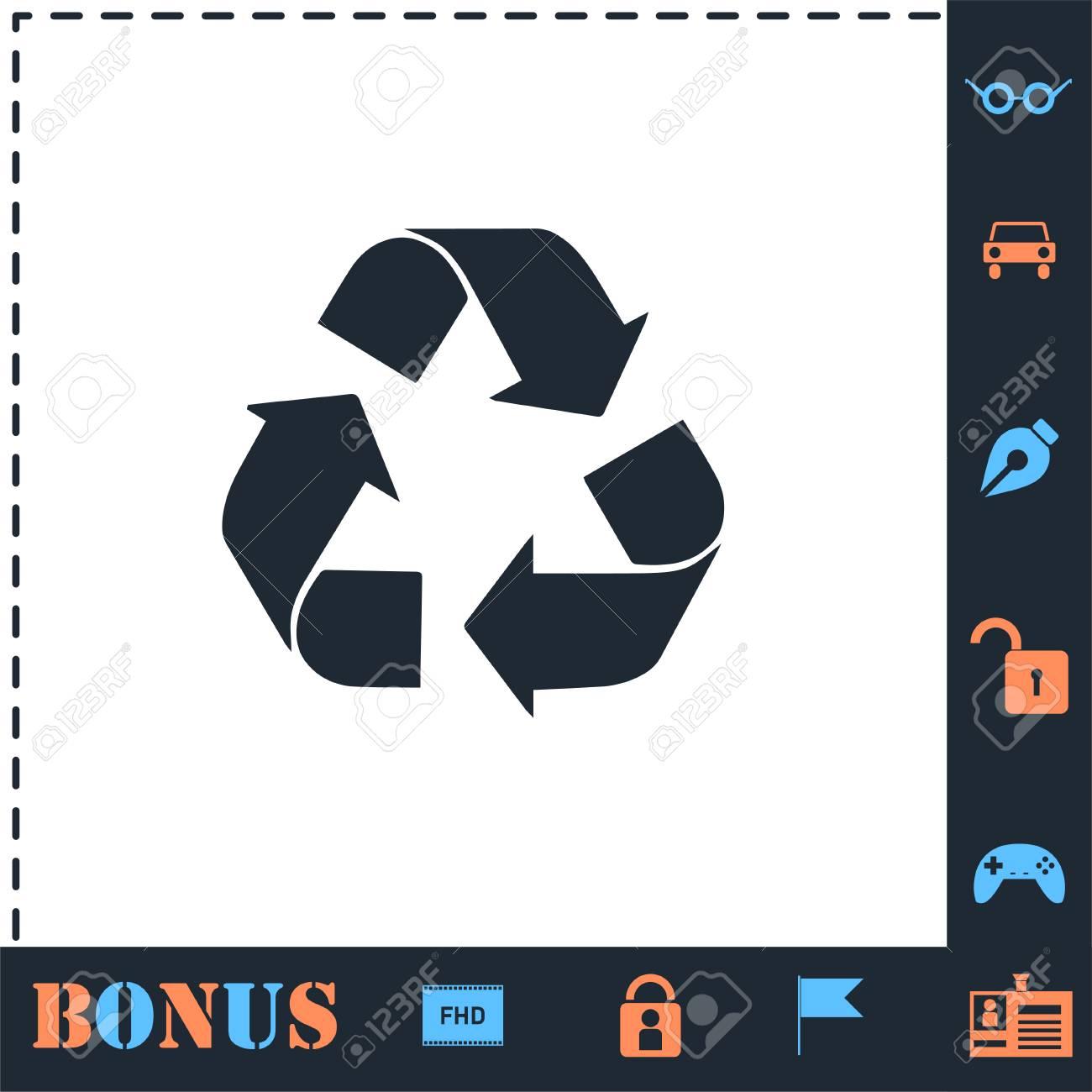 Recycle arrow. Perfect icon with bonus simple icons - 121857565