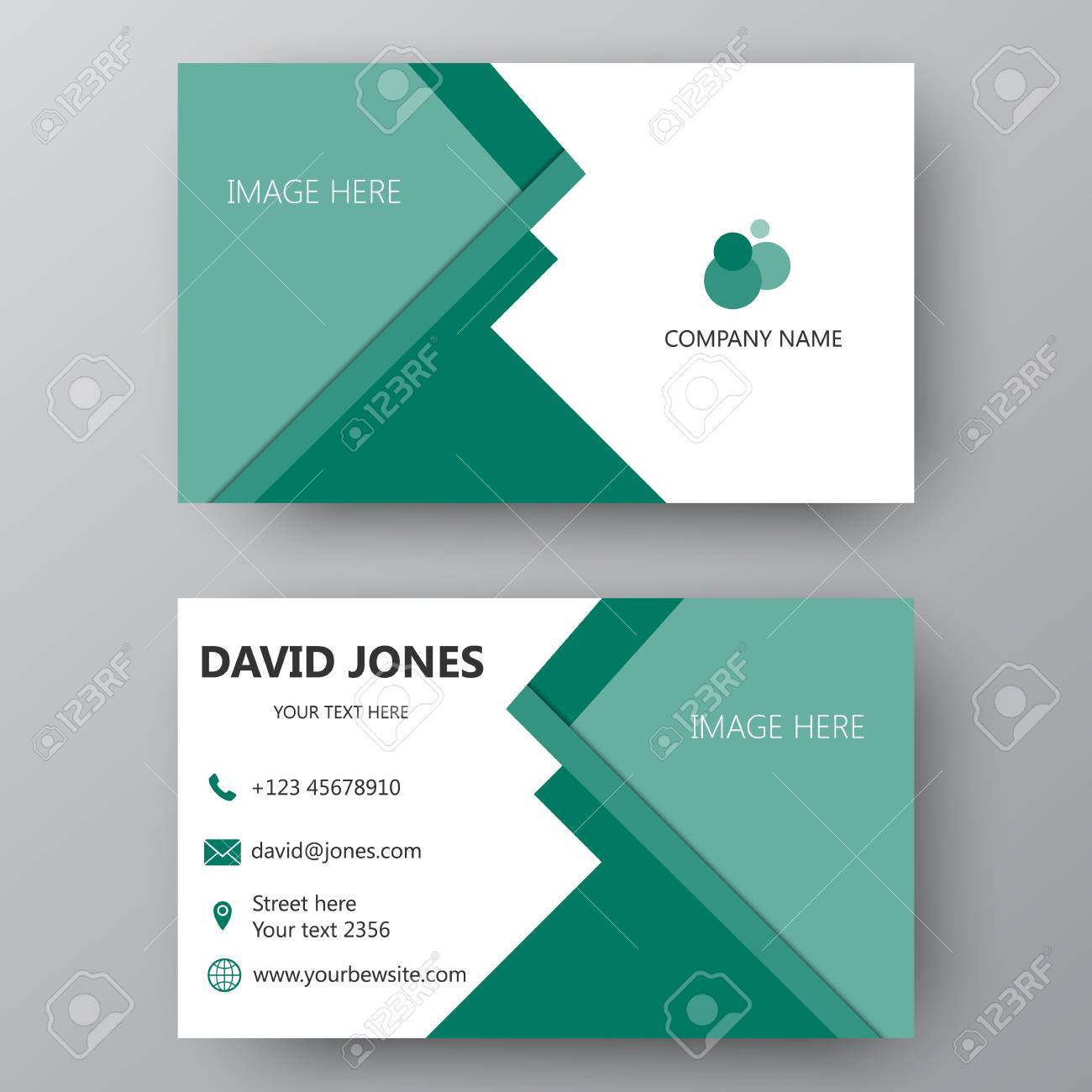 Business card template visiting card for business and personal business card template visiting card for business and personal use modern presentation card with cheaphphosting Choice Image