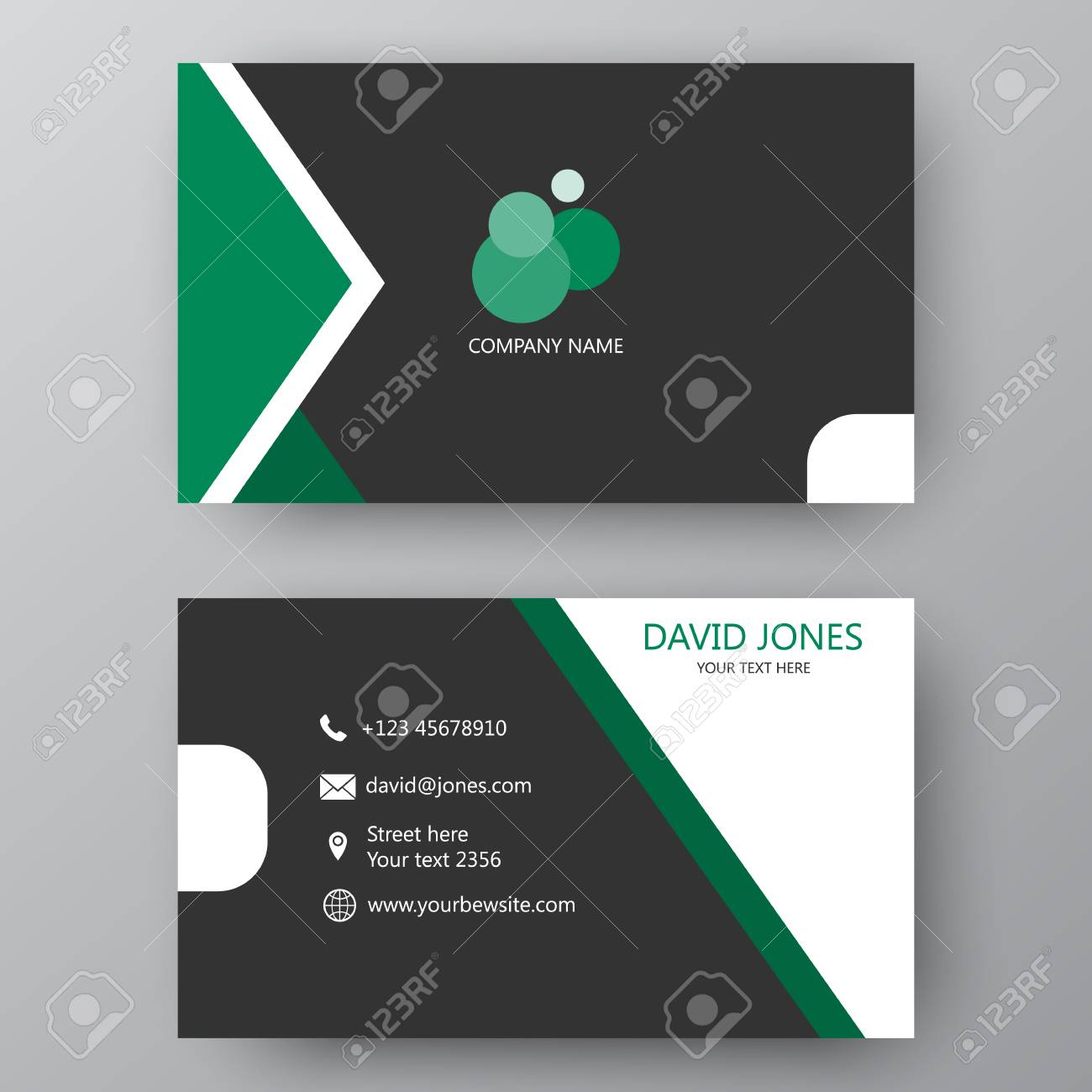 Vector business card template visiting card for business and vector vector business card template visiting card for business and personal use modern presentation card with company logo vector illustration design flashek Gallery