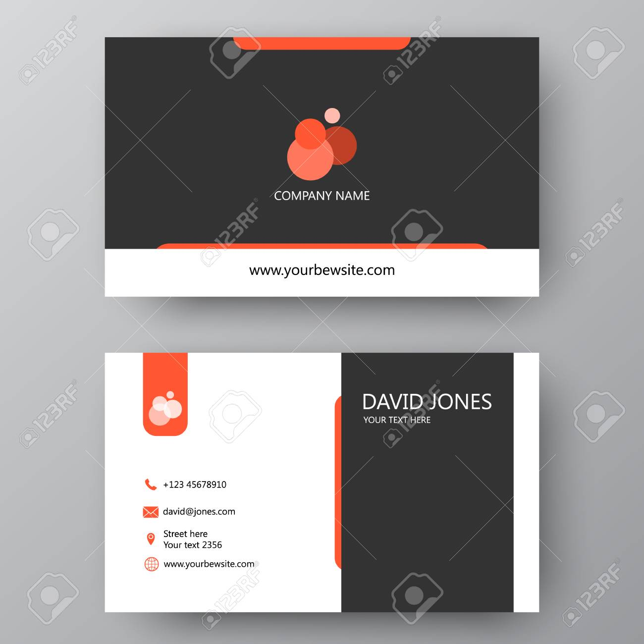 Vector business card template visiting card for business and vector vector business card template visiting card for business and personal use modern presentation card with company logo vector illustration design accmission Choice Image