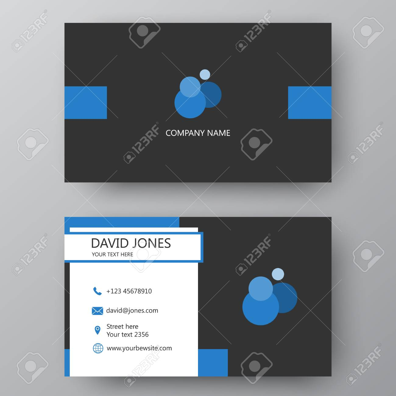 Vector Business Card Template. Visiting Card For Business And ...