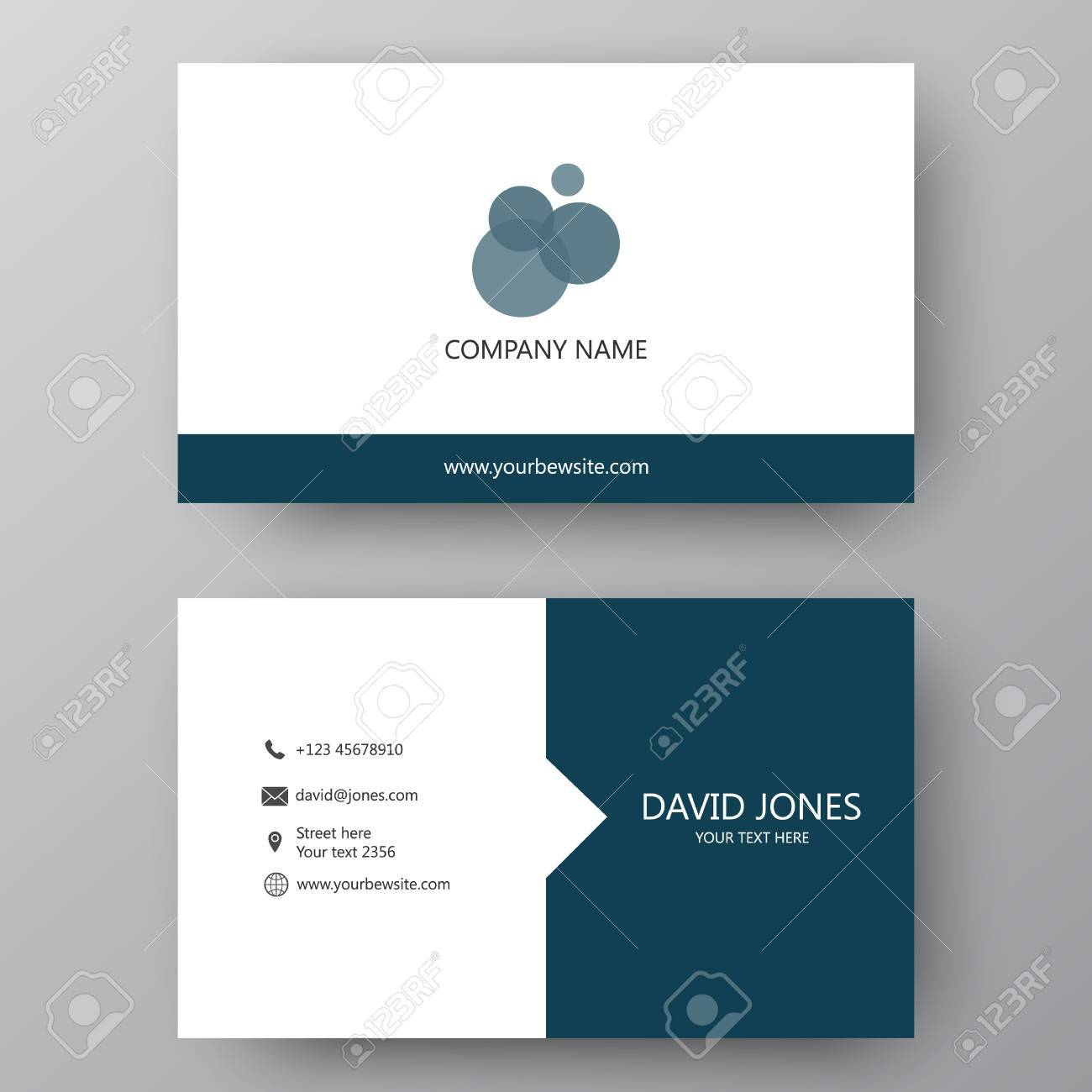 Vector business card template visiting card for business and vector vector business card template visiting card for business and personal use modern presentation card with company logo vector illustration design accmission Images