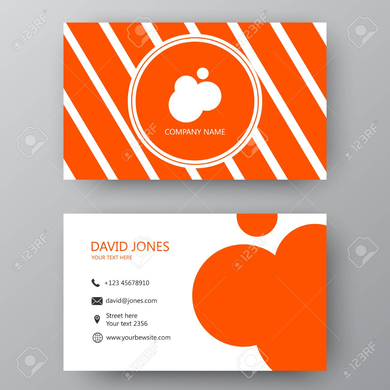Vector Business Card Template Visiting Card For Business And - Complimentary card template