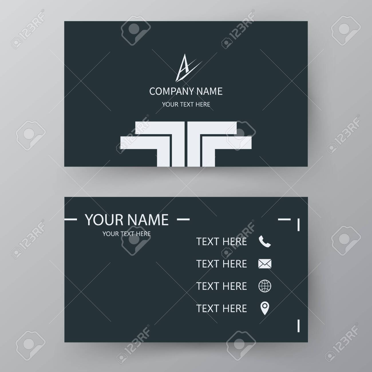 Modern presentation card. Vector business card. Visiting card for business and personal use. Vector illustration design. - 143573463