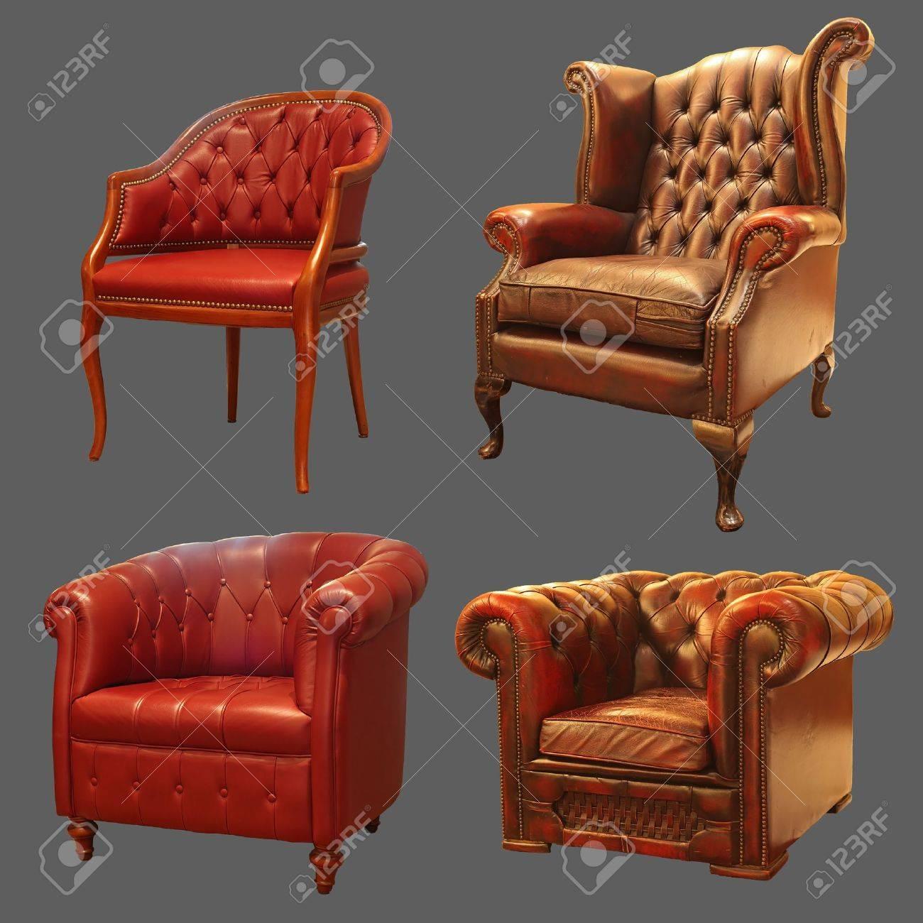 4 Ancient Armchair Stock Photo - 14167591
