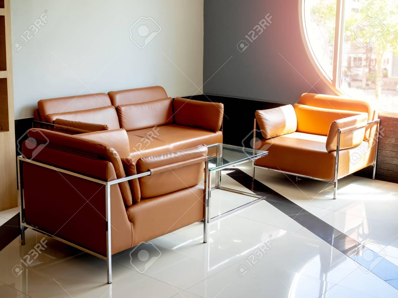 Hat Yai, Songkhla,Thailand - May 5, 2019 : Modern orange leather..