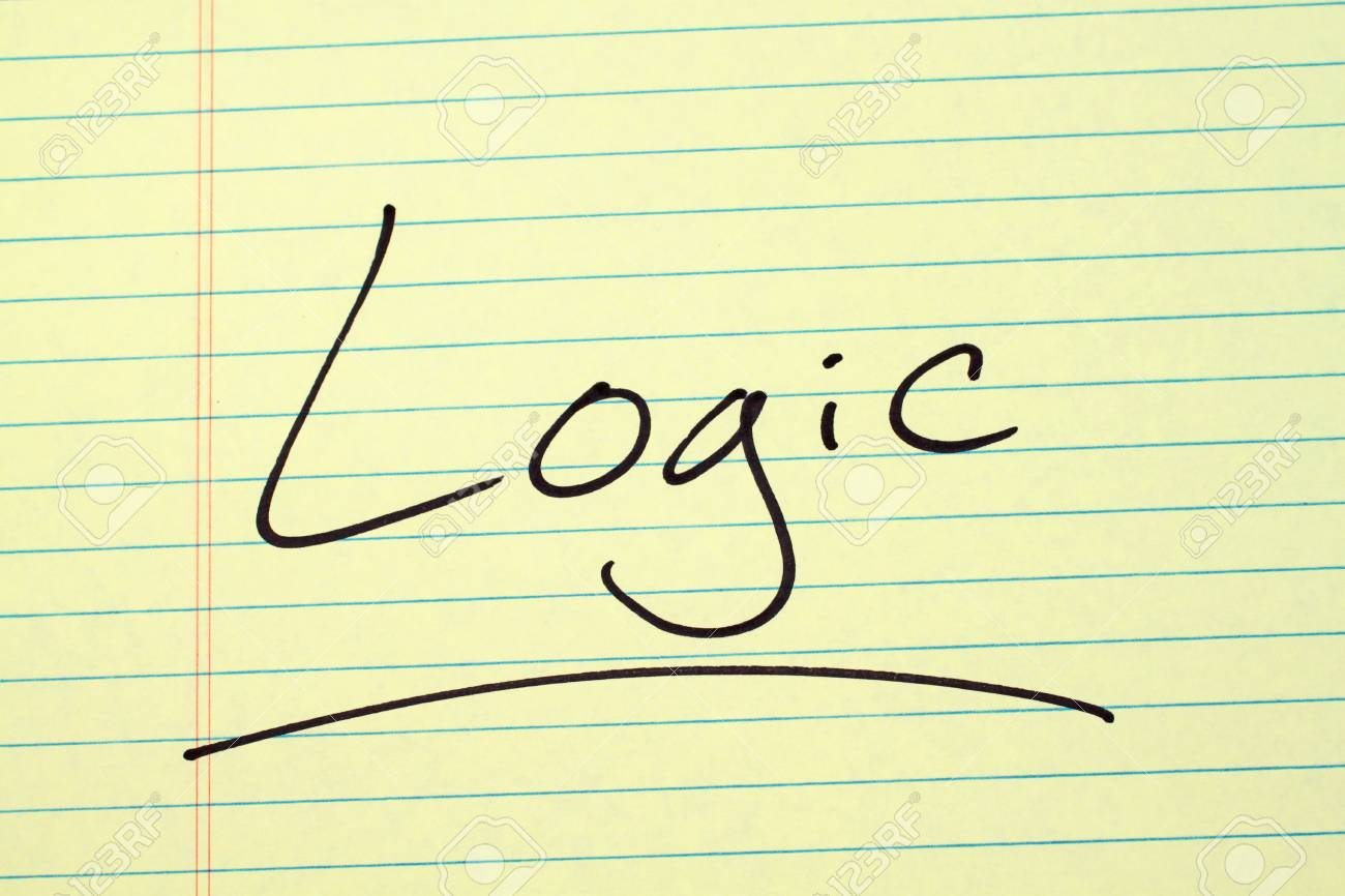 A look at the word Logic written on lined paper